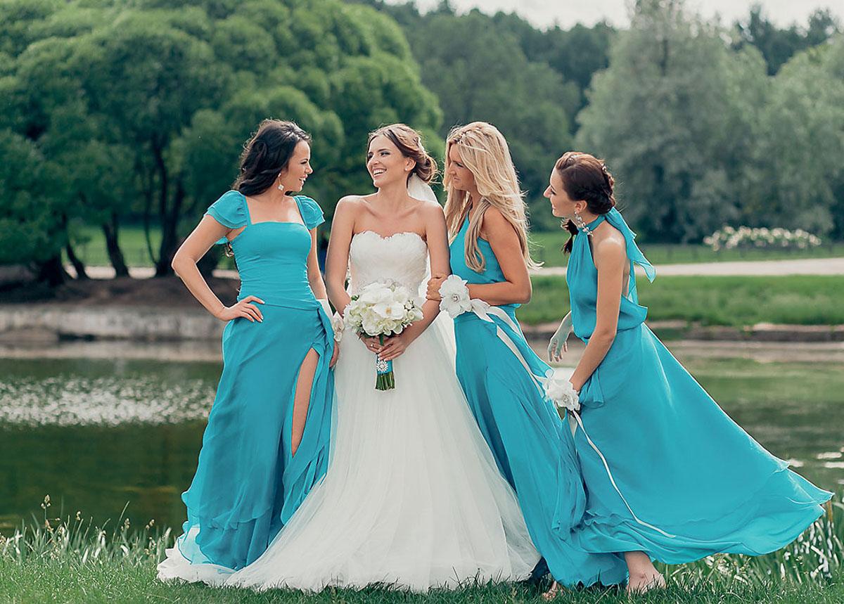Свадьба в жёлто голубом цвете